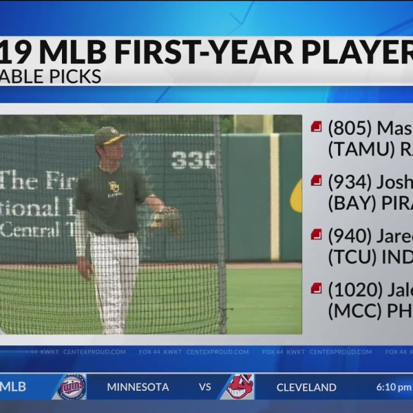 Notable MLB Draftees in Central Texas